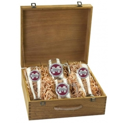 "Mississippi State University ""M"" Beer Set w/ Box - Enameled"