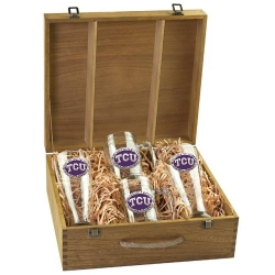 Texas Christian University Beer Set w/ Box - Enameled