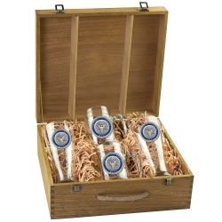 Navy Beer Set w/ Box - Enameled
