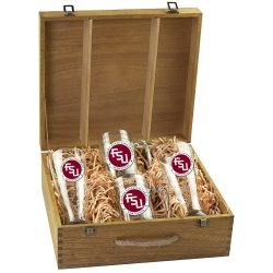 "Florida State University ""FSU"" Beer Set w/ Box - Enameled"