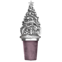Christmas Tree Pewter Bottle Stopper