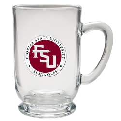 "Florida State University ""FSU"" Clear Coffee Cup - Enameled"
