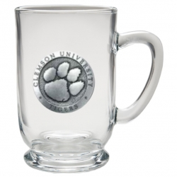 Clemson University Clear Coffee Cup