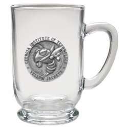 "Georgia Institute of Technology ""Yellow Jacket"" Clear Coffee Cup"