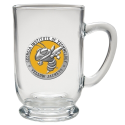 "Georgia Institute of Technology ""Yellow Jacket"" Clear Coffee Cup - Enameled"