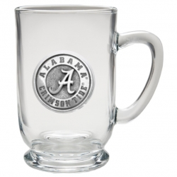 "Alabama ""A"" Crimson Tide Clear Coffee Cup"