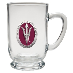 "ASU ""Pitchfork"" Clear Coffee Cup - Enameled"