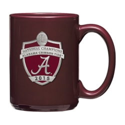 2015 CFP National Champions Alabama Crimson Tide Burgundy Coffee Cup - Enameled