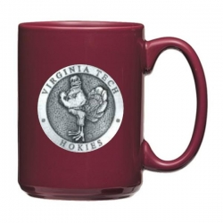 "Virginia Tech University ""Hokies"" Maroon Coffee Cup"