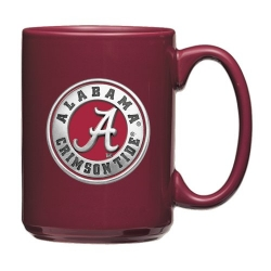 "Alabama ""A"" Crimson Tide Burgundy Coffee Cup - Enameled"