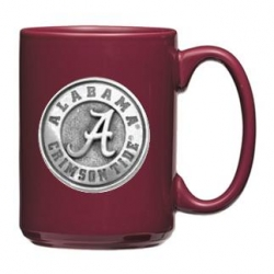 "Alabama ""A"" Crimson Tide Burgundy Coffee Cup"