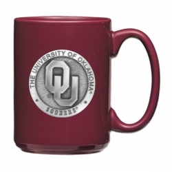 "University of Oklahoma ""OU"" Burgundy Coffee Cup"