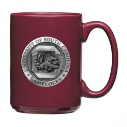 "University of South Carolina ""Gamecocks"" Maroon Coffee Cup"
