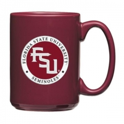 "Florida State University ""FSU"" Maroon Coffee Cup - Enameled"
