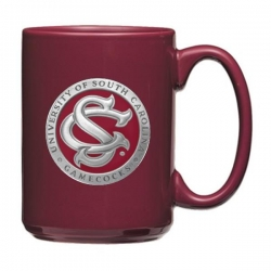 "University of South Carolina ""SC"" Maroon Coffee Cup - Enameled"