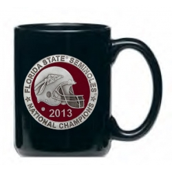 2013 BCS National Champions Florida State Seminoles Black Coffee Cup - Enameled
