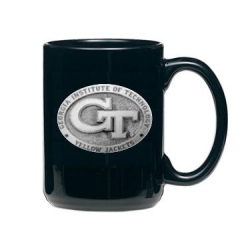 "Georgia Institute of Technology ""GT"" Black Coffee Cup"