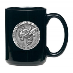 """Georgia Institute of Technology """"Yellow Jacket"""" Black Coffee Cup"""