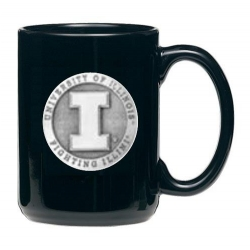 University of Illinois Black Coffee Cup