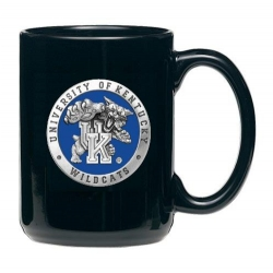 "University of Kentucky ""Wildcats"" Black Coffee Cup - Enameled"