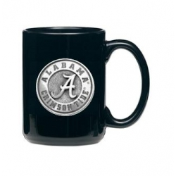 "Alabama ""A"" Crimson Tide Black Coffee Cup"