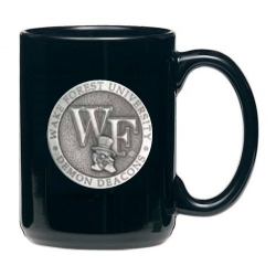 "Wake Forest University ""WF"" Black Coffee Cup"