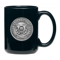 Coast Guard Black Coffee Cup