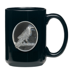 Raven Black Coffee Cup - Enameled