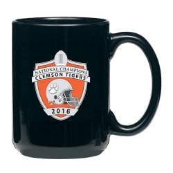 2016 CFP National Champions Clemson Tigers Black Coffee Cup - Enameled