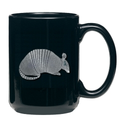 Armadillo Black Coffee Cup