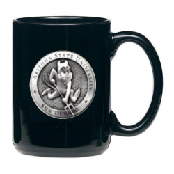"ASU ""Sparky"" Black Coffee Cup"