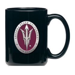 "ASU ""Pitchfork"" Black Coffee Cup - Enameled"
