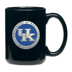 University of Kentucky Black Coffee Cup - Enameled