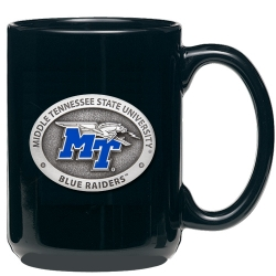 Middle Tennessee State University Black Coffee Cup - Enameled