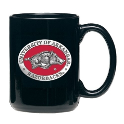 University of Arkansas Black Coffee Cup - Enameled