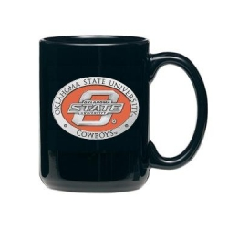 Oklahoma State University Black Coffee Cup - Enameled