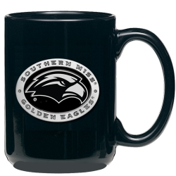 University of Southern Mississippi Black Coffee Cup - Enameled