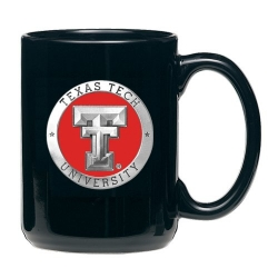 Texas Tech University Black Coffee Cup - Enameled