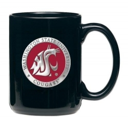 Washington State University Black Coffee Cup - Enameled