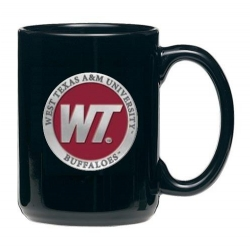 West Texas A&M University Black Coffee Cup - Enameled