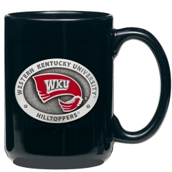 Western Kentucky University Black Coffee Cup - Enameled
