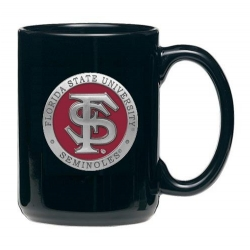 Florida State University Black Coffee Cup - Enameled