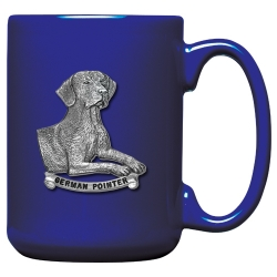 German Pointer Cobalt Coffee Cup