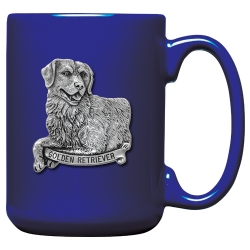 Golden Retriever Cobalt Coffee Cup