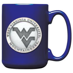 West Virginia University Cobalt Coffee Cup