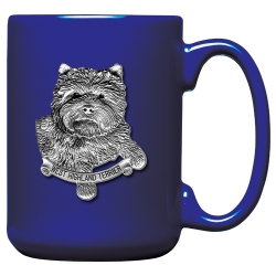 West Highland Terrier Cobalt Coffee Cup