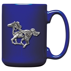 Pony Fetish Cobalt Coffee Cup