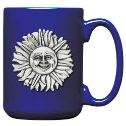 Sunface Cobalt Coffee Cup