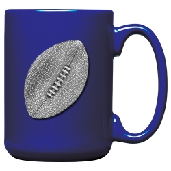 Football Cobalt Coffee Cup