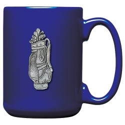 Golf Bag Cobalt Coffee Cup